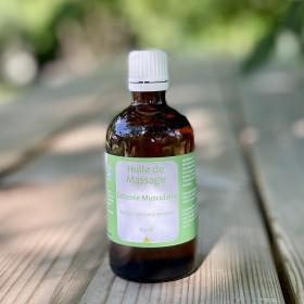 Huile de massage détente musculaire - Aux huiles essentielles décontractantes - 100ml