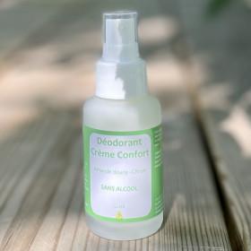 Déodorant crème sans alcool aux huiles essentielles- Citron -Flacon pompe 50ml